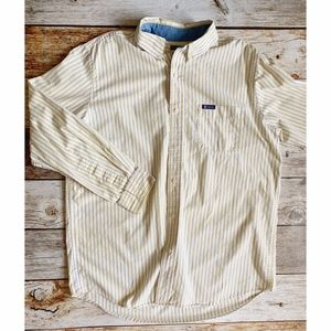 🌴3/$20 Men's Chaps Yellow Striped Button Down